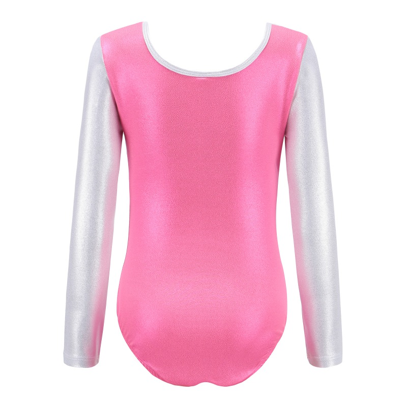 Kids-Girl-Long-Sleeve-Ballet-Dance-Leotards-Gymnastics-Fitness-Costume-4-10Y thumbnail 36